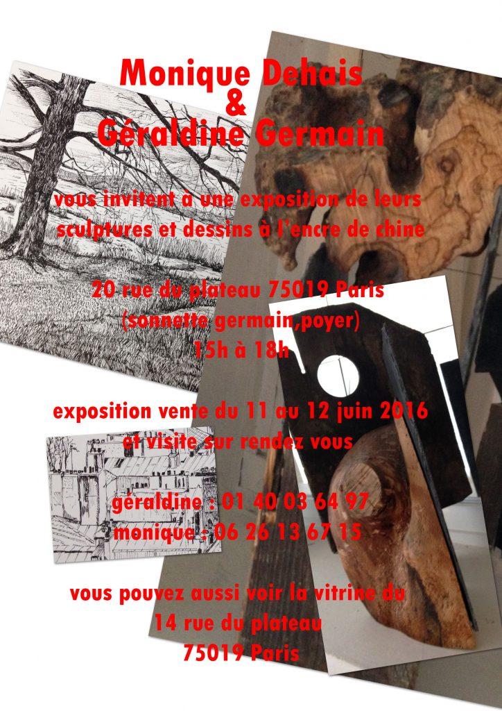 exposition avec Géraldine 11&12 juin 2016